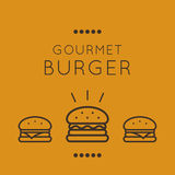 Gourmet burger icon vector Stock Photography