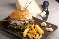 Gourmet burger with roast beef Stock Photography