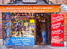 Gourmet butcher shop in Munich center Royalty Free Stock Photography