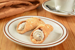 Gourmet cannoli Royalty Free Stock Photography