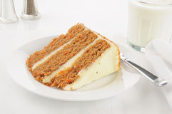 Gourmet carrot cake on a high key setting Royalty Free Stock Photos