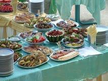 Gourmet catering food Stock Photos