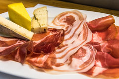 Gourmet charcuterie board, Italian style aperitivo Stock Images