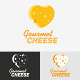 Gourmet cheese logo. Abstract vector logo template for your business Stock Images