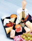 Gourmet Cheese Plate Royalty Free Stock Images