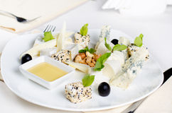 Gourmet Cheese Platter Appetizer Stock Photo