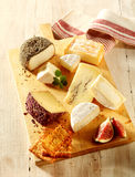 Gourmet cheese platter Royalty Free Stock Photos