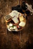 Gourmet cheese platter Stock Image