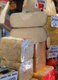 Gourmet cheese shop Royalty Free Stock Photo