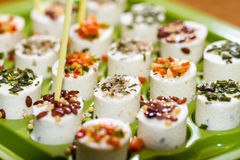 Gourmet cheese starters Stock Photo
