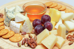 Gourmet cheeses Royalty Free Stock Image