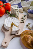 Gourmet cheeses Stock Images