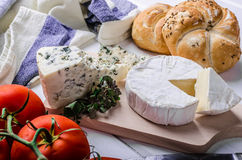 Gourmet cheeses Stock Photography