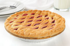 Gourmet cherry pie Stock Photography