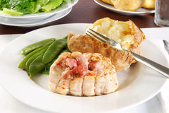 Gourmet chicken cordon bleu Royalty Free Stock Photos