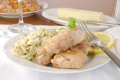 Gourmet chicken dinner Royalty Free Stock Photo