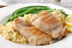 Gourmet chicken dinner Royalty Free Stock Images