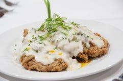 Gourmet Chicken Fried Steak Stock Photo