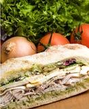 Gourmet chicken sandwich Royalty Free Stock Photos