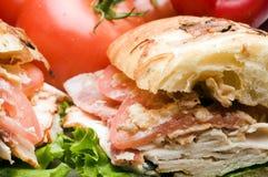 Gourmet chicken sandwich Stock Images