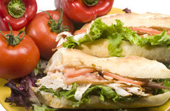 Gourmet chicken sandwich Stock Photos