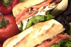 Gourmet chicken sandwich Stock Photos