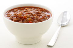 Gourmet chili beans with extra lean beef Royalty Free Stock Photography
