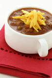 Gourmet chili beans with extra lean beef Stock Image