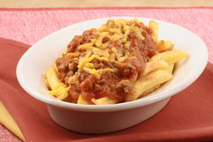 Gourmet chili fries Stock Photography