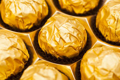 Gourmet chocolate bonbons Royalty Free Stock Image