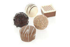 Gourmet chocolate bonbons Royalty Free Stock Image