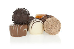 Gourmet chocolate bonbons Stock Photos
