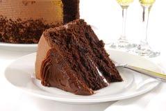 Gourmet chocolate cake Stock Images