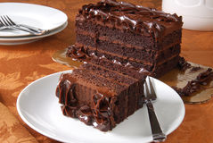 Gourmet chocolate cake Stock Images