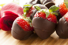 Gourmet Chocolate Covered Strawberries Stock Image