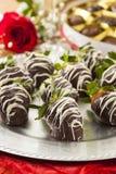 Gourmet Chocolate Covered Strawberries Stock Photos