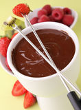 Gourmet chocolate fondue Royalty Free Stock Photography