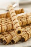 Gourmet Chocolate Hazelnut Pirouline Stock Images