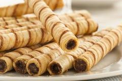 Gourmet Chocolate Hazelnut Pirouline Stock Image
