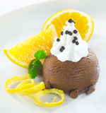 Gourmet chocolate icecream dessert Royalty Free Stock Photography