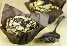 Gourmet chocolate muffins Royalty Free Stock Photography