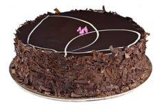 Gourmet Chocolate and Raspberry Cake Stock Photography