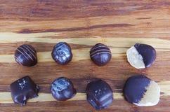 Gourmet Chocolates. Gourmet artisan chocolates from local chocolatier Stock Photos