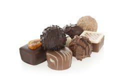 Gourmet- chokladkonfektar Fotografering för Bildbyråer