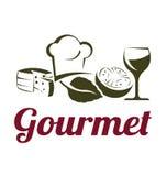 Gourmet Cuisine Logo Stock Photography