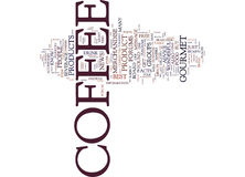 Gourmet Coffee And Free Coffee Advice Word Cloud Concept