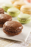 Gourmet Colored Macaroon Cookies Stock Images