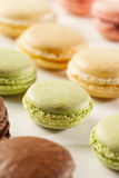 Gourmet Colored Macaroon Cookies Royalty Free Stock Photography
