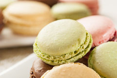 Gourmet Colored Macaroon Cookies Royalty Free Stock Photo