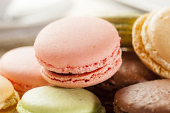 Gourmet Colored Macaroon Cookies Royalty Free Stock Photos